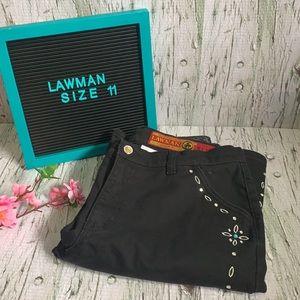Vintage Lawman Authentic Western Straight leg Black  Jeans Size 11 women's